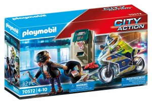 PLAYMOBIL® Polizei-Motorrad: Verfolgung des Geldräubers