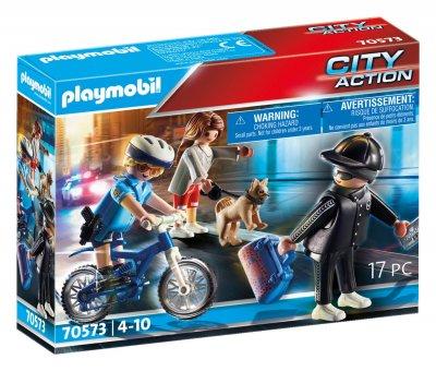 PLAYMOBIL® 70573 Policejní kolo: Pronásledování kapsáře