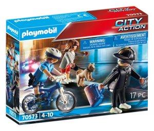 PLAYMOBIL® Polizei-Fahrrad: Verfolgung des Taschendiebs