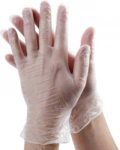 Červinka jednorázové nepudrované vinylové rukavice 100 ks - transparentní