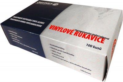 Vinylové rukavice Červinka 100 ks - jednorázové, nepudrované