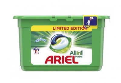 Mountain Spring Ariel gelové kapsle na praní - balení 11 ks
