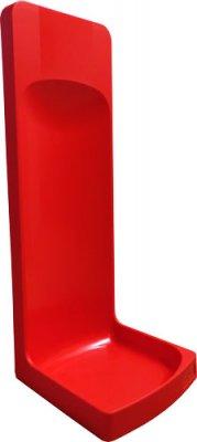 Plastový stojan na hasicí přístroj červený