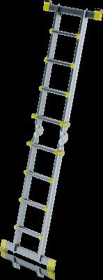JUST Typ 75-200F - Teleskopický hliníkový žebřík se stabilizačními tyčemi