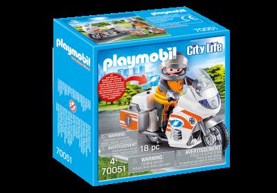 PLAYMOBIL® 70051 Núdzová motorka