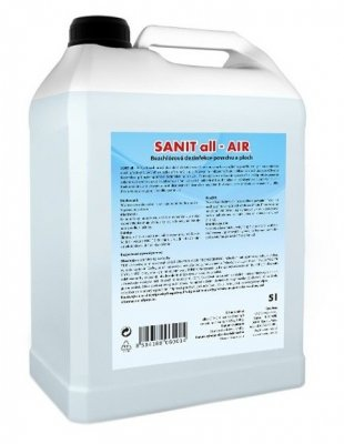 Dezinfekční roztok bez chlóru Sanit ALL - AIR 5 l