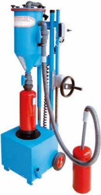 FRITZ EMDE PFF-FLIPP-EK Mobilní prášková plnička hasicích přístrojů
