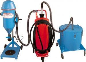 FRITZ EMDE PFF-FLIPP-AIR-MATIC Mobilní prášková plnička hasicích přístrojů se zásobníkem