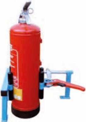 FRITZ EMDE model M stolní rychloupínací svorka na láhve hasicích přístrojů