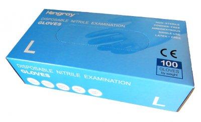 Hongray vyšetřovací jednorázové nitrilové rukavice 100 ks