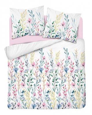 Obliečky z bavlneného saténu kvetiny - viacfarebné
