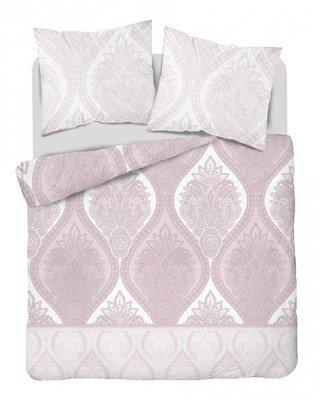 Obliečky z bavlneného saténu ornamenty - ružová