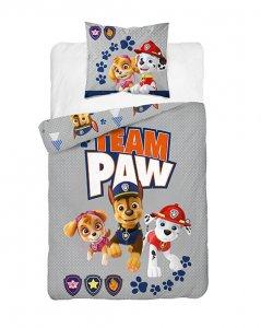 Bavlnené obliečky PAW PATROL - šedá
