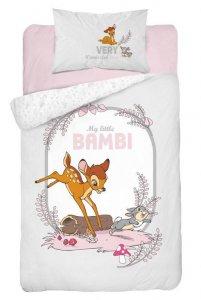 Bavlnené obliečky BAMBI - šedobiela