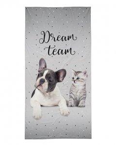 Bavlněná osuška Dream team - šedá