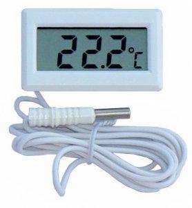 Digitales Thermometer mit Außen-Sensor - weiß