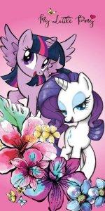 Bavlněná osuška My Little Pony - fialová