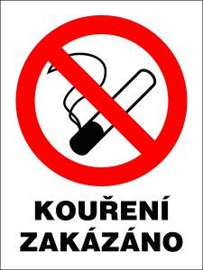 Bezpečnostní tabulka - Kouření zakázáno