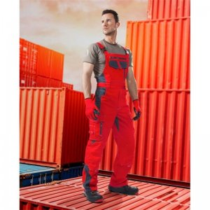 Kalhoty lacl VISION červené, zkrácené