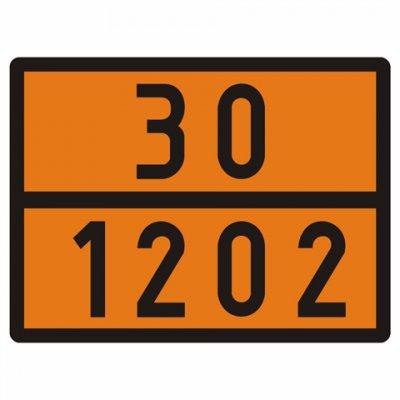 Reflexní tabulka ADR 30/1202