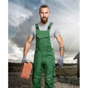 Nohavice s náprsenkou ARDON®URBAN+ zelené skrátené