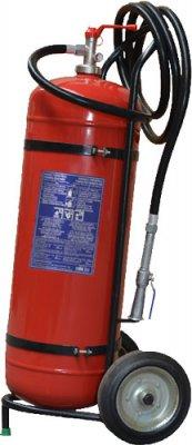 P50-E-40 pojazdný hasiaci prístroj práškový 50 kg (IIB)