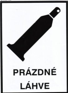 Bezpečnostní tabulka - Prázdné láhve