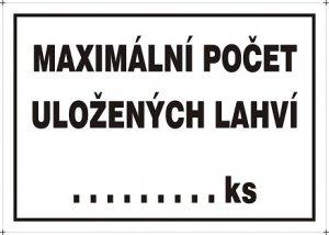 Maximálny počet uložených fliaš ... ks