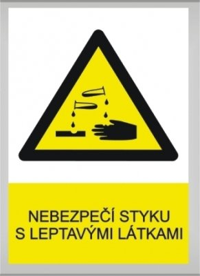 Nebezpečí styku s leptavými látkami