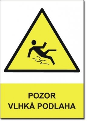Pozor vlhká podlaha