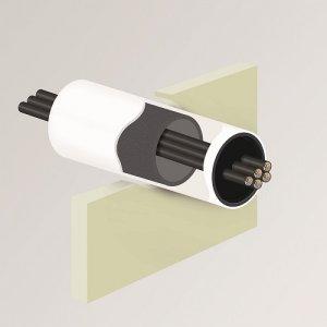 PROTECTA® FR Service Transit plastová trubka s intumescentním materiálem uvnitř