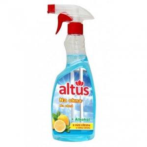 ALTUS Professional na okná - čistiaci prostriedok na čistenie skla s vôňou citrónu