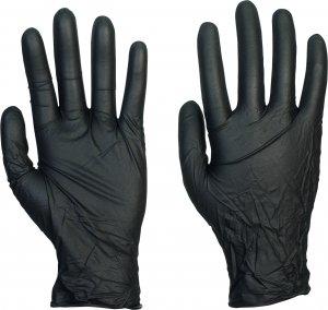 MedaSEPT jednorázové nitrilové rukavice 100 ks - černé